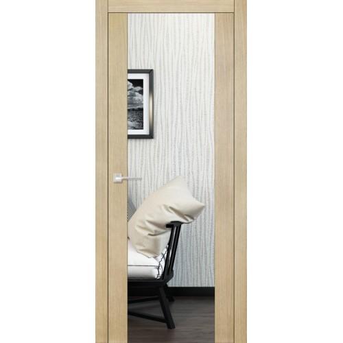 Дверь Quadro 6017 с зеркалом Дуб карамельный
