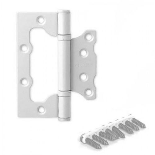 Дверная петля  Аpecs 100*75 -2.5-B2-Steel-W белая