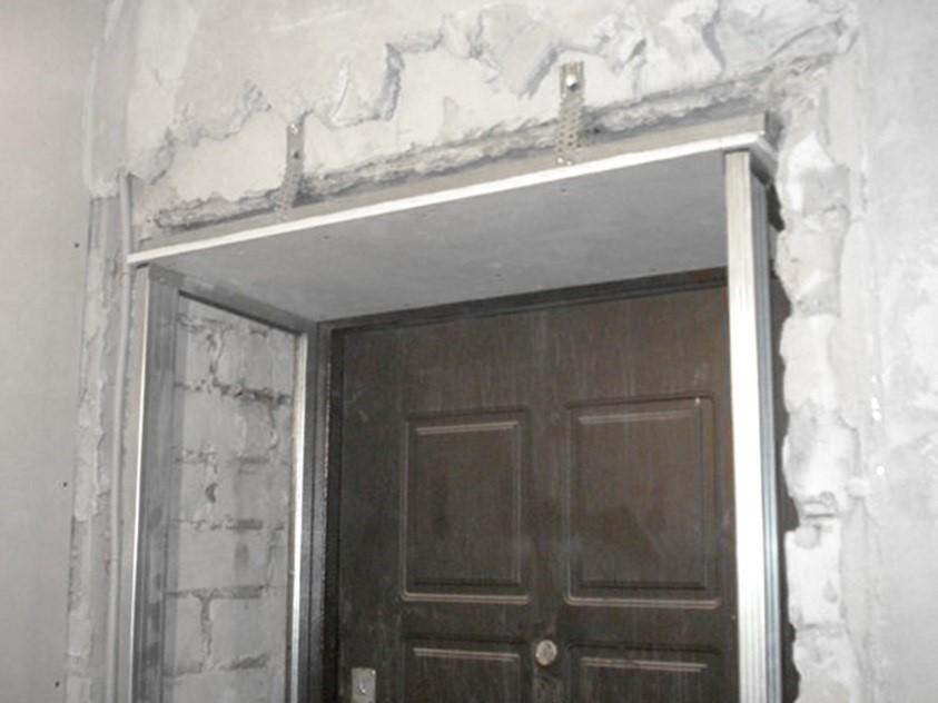 Отделка двери гипсокартоном